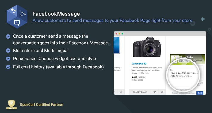 FacebookMessage - Facebook messenger chat