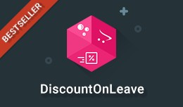 Discount On Leave - Recover abandoning visitors