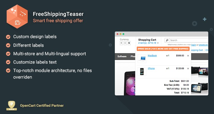 FreeShippingTeaser - Smart free shipping offer