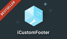 iCustomFooter - Exclusive Powerful Custom Footer