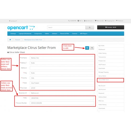 OpenCart - Opencart Marketplace Citrus Payment Gateway