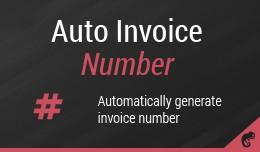 Auto Invoice Number