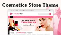 Responsive Clean Cosmetics store Theme