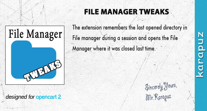 File Manager Tweaks