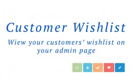 Customer Wishlist On Admin Page