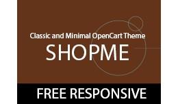 ShopMe - Free OpenCart Theme Responsive