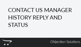 Contact Us Manager History Reply and Status
