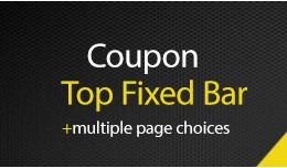 Coupon Top Fixed Bar