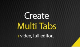 Multi Tab for Each Product