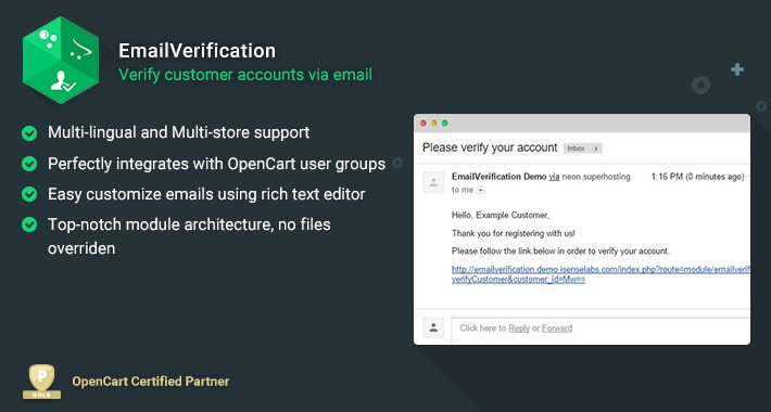 EmailVerification - Activate New Registered Account by Email