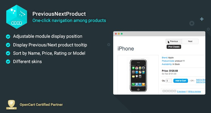 PreviousNextProduct - One-click navigation among products