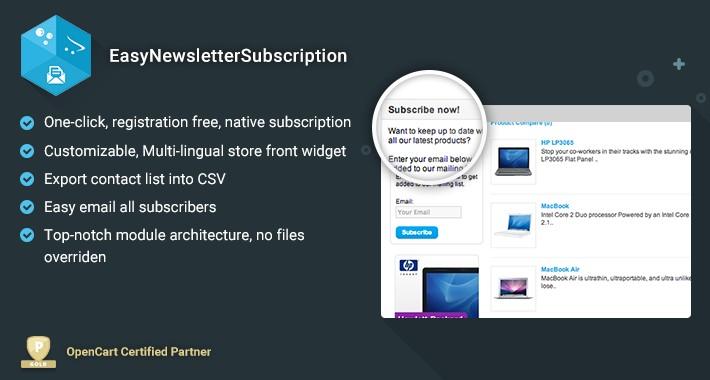 EasyNewsletterSubscription - Easy Native Newsletter Subscription