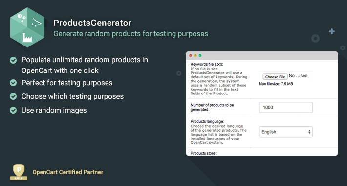 ProductsGenerator - Populate Random Products in your Store