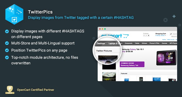 Twitter Pics - Display Twitter Pics Based on a Hashtag