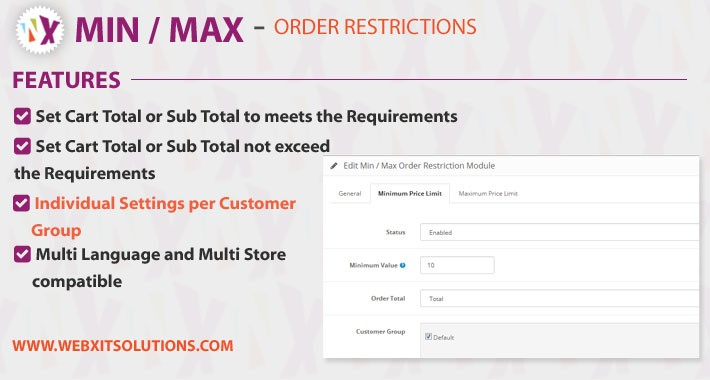 Min Max Order Restrictons