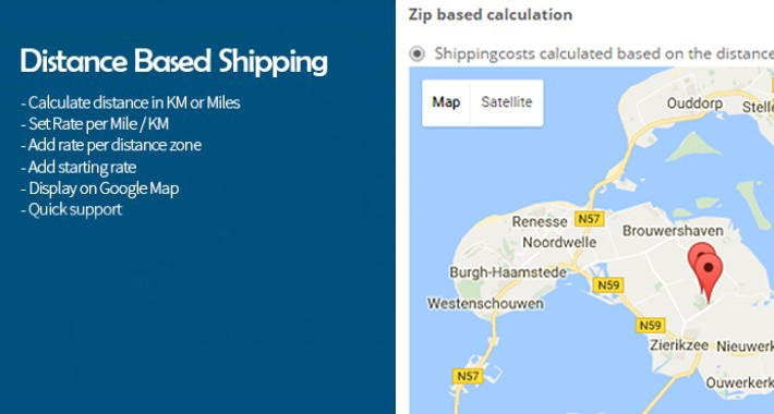 World Map Distance Calculator.Opencart Distance Based Shipping Calculation