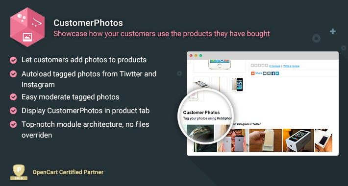 CustomerPhotos - Users add photos of products bought from you
