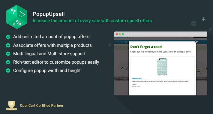 Popup Upsell - Increase the amount of every sale