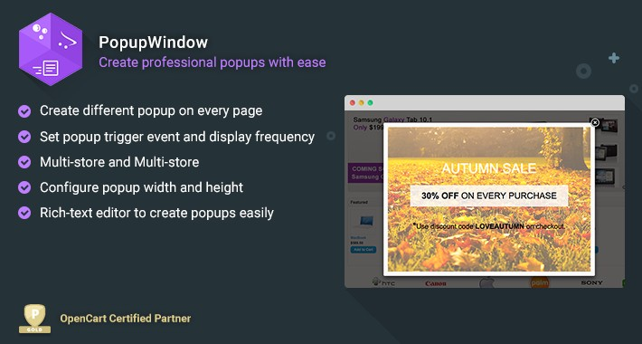 PopupWindow- Create professional popups with ease