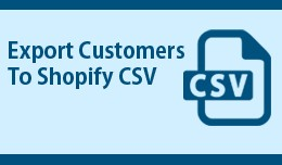 Opencart export customers CSV for Shopify