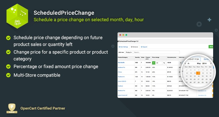 ScheduledPriceChange - Change Price on a Selected Date