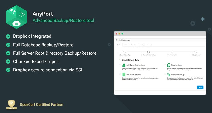 AnyPort - Backup / Automatic Restore to Cloud Storage Services