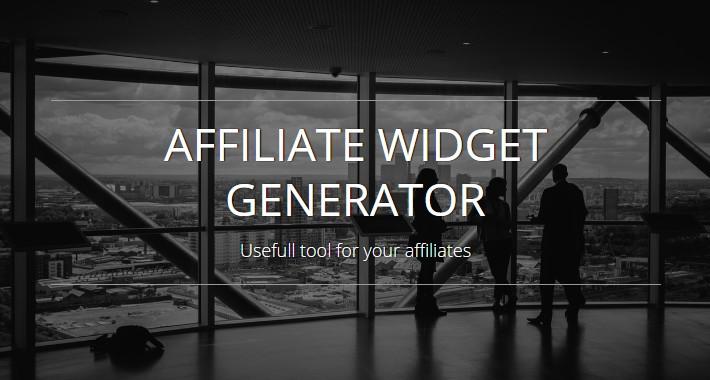 Affiliate Widget Generator OC1.5.x