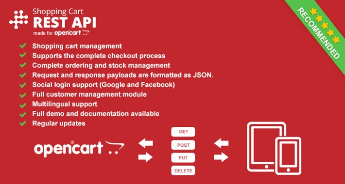 Opencart REST API - Shopping cart API
