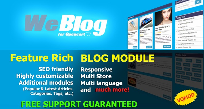 Weblog - Full featured Opencart blog -  50% DISCOUNT