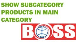 OpenCart Subcategory Products in Main Category