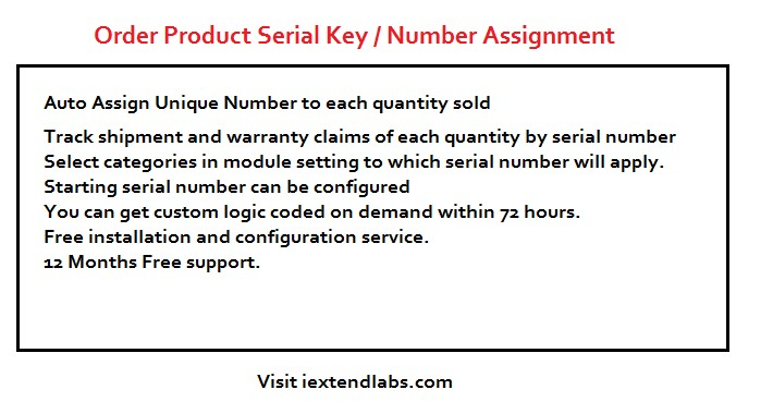Product Serial Key Assign , Order Product Serial Number
