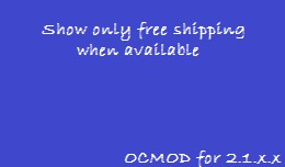 Show only Free Shipping when available