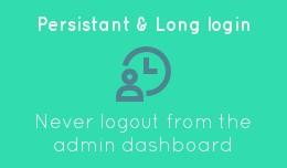 Admin long login - token in cookie