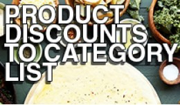Product Discounts to Category List