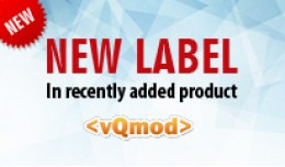 New Label in Recently Added Product