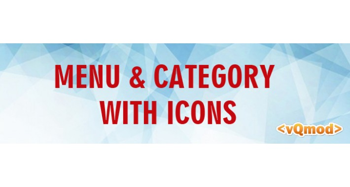 Menu & Category with Icons