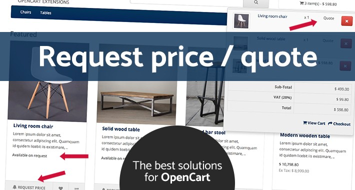 Request price / Quote (OC v2.x/v3.x)