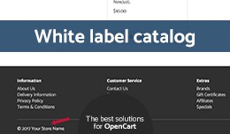 White Label catalog (copyright removal)