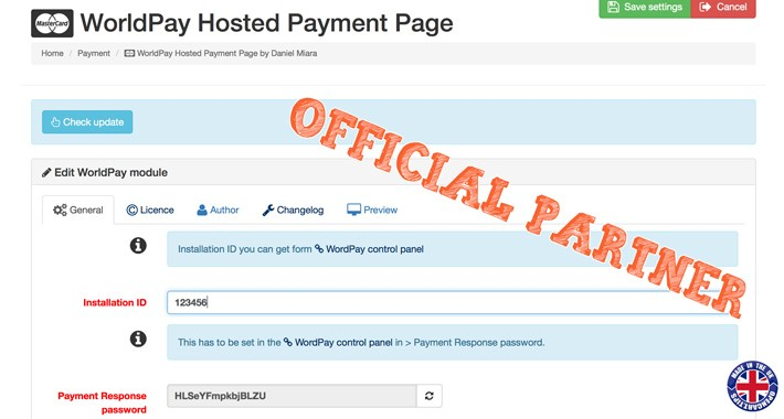 WorldPay Business Gateway - Hosted PP OFFICIAL PARTNER ★ OC1.5