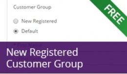 New Registered Customer Group