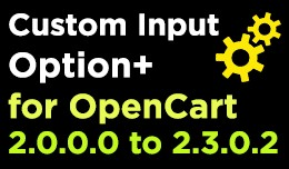 Custom Input Option for OpenCart 2+