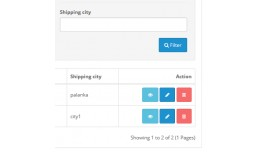 Shipping city filter in order list