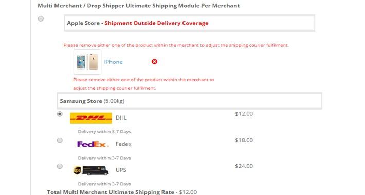 Multi-Merchant/Drop Shipper Ultimate Shipping 3.0