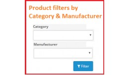 Admin Product filters by category & manufact..