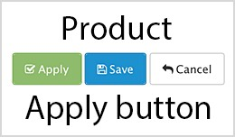 Admin products apply button