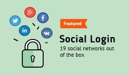 Social Login (PayPal, Facebook, Instagram, Tumbl..