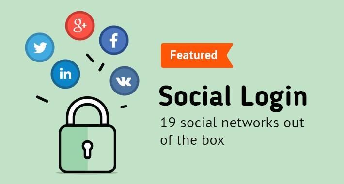 Social Login (PayPal, Facebook, Instagram, Tumbler etc.)