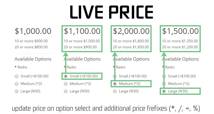 Live Price 2 (update on fly)