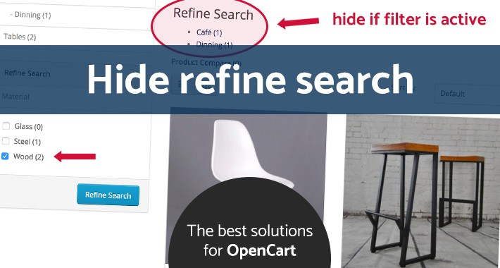 Hide refine search if filter is active
