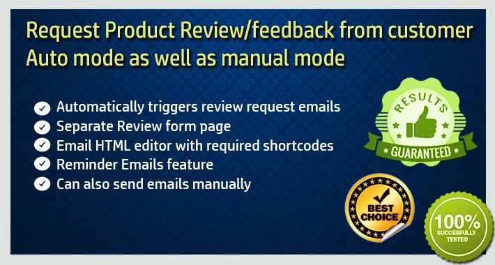 Post Purchase Product Review / Feedback Request Automated Email